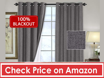 H. VERSAILTEX 100% Blackout Thermal Curtains for Bedroom